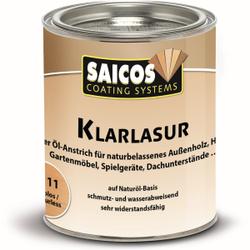 SAICOS Klarlasur, farblos, Farbloser Öl-Anstrich auf Naturöl-Basis für den Außenbereich, 750 ml - Dose