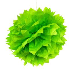 3 PomPoms Pompons Seidenpapier Hochzeit Geburtstag Party Deko - grün