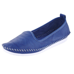 Slipper mit flexibler Laufsohle blau 37