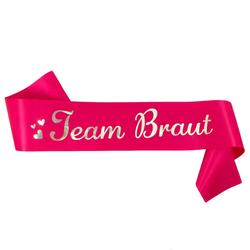 Schärpe Team Braut JGA Junggesellinnenabschied Hen Party pink