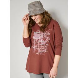 Sweatshirt Janet & Joyce Kastanienbraun/Silberfarben