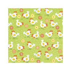 Paper+Design Papierserviette Hühnerfarm, (5 St), 33 cm x 33 cm