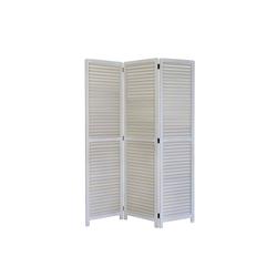 Homestyle4u Paravent, weißer Raumtrenner, 3-teilig, 120x170 cm weiß