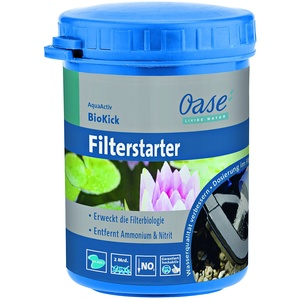 OASE 43150 AquaActiv BioKick 100 ml für 5.000 l - Teichbakterien Starterbakterien für Fischteich Gartenteich Schwimmteich