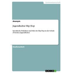 Jugendkultur Hip Hop als Buch von Anonym