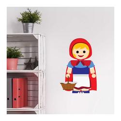 Wall-Art Wandtattoo Spielfigur - Rotkäppchen (1 Stück) 60 cm x 88 cm x 0,1 cm