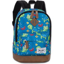 BestWay Bags Kinderrucksack ORI100M Bestway Kinder Rucksack Schildkröte blau, Kinder Kinderrucksack Polyester, blau, Größe ca. 29cm, Schildkröte