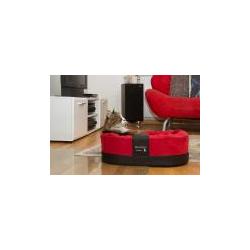 Exklusiver Katzenkorb Amy Style 55x42x18cm rot