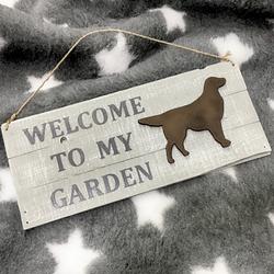 """MATDOX Shabby """"Welcome to my Garden"""" - Schild 1"""