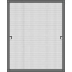 Insektenschutzplissee Nematek® Fliegengitter Fenster LIGHT, ohne Bohren - Insektenschutz Gitter mit Alurahmen - Mückengitter Fenstergitter Fliegengitter, Nematek grau