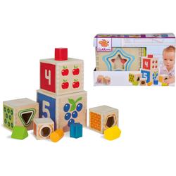 Eichhorn Stapelspielzeug Color, Steckturm, aus Holz bunt Kinder Holzspielzeug