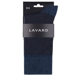 Lavard Blau-braune Socken mit Pepitamuster 72859  39-41