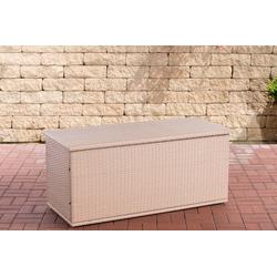 CLP Auflagenbox Comfy, Poly-Rattan Auflagenbox, Gartentruhe für Kissen und Auflagen natur