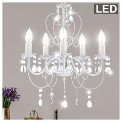 etc-shop Kronleuchter, LED 15 Watt Kronleuchter Decken Lampe Luster Pendel Leuchte Hängelicht