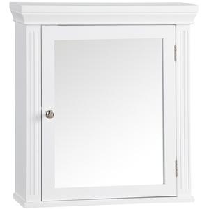 Elegant Home Fashions Badezimmer Stratford Hölzerner verspiegelter Medizinschrank Weiß 6544, 47 x 14 x 50.8