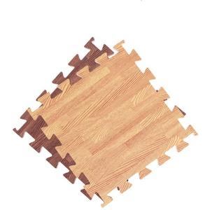 Vosarea 30cm Trainingsmatte Ineinandergreifende EVA Holzmaserung Quadratische Bodenmatten Trainingsmatte Bodenmatte für Yoga-Übungen