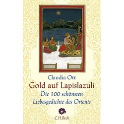 Gold auf Lapislazuli als Buch von
