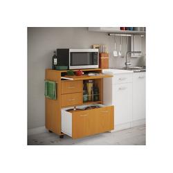 VCM Küchenwagen Küchenwagen Kicha mit Rollen braun