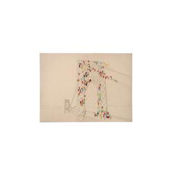 Kayoom Öl-Wandbild Menschenmenge II 100cm x 75cm , ca. 3,8cm (L/T) x 75cm (B) x 100cm (H)