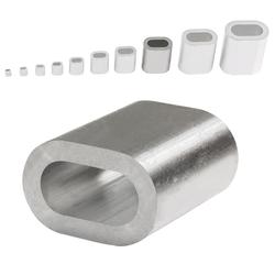 Aluminium Pressklemmen 10 mm (50 Stück) Pressklemmen Alupressklemmen Presshülsen