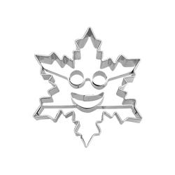 STÄDTER Ausstechform Städter Ausstecher Eiskristall mit Smiley, metall