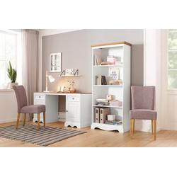 Home affaire Schreibtisch Melissa, aus schönem massivem Kiefernholz, Breite 150 cm weiß
