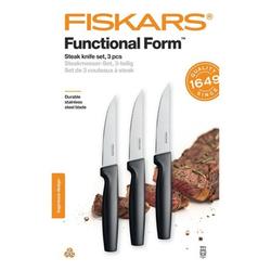 Fiskars Steakmesser Steakmesser-Set 3-teilig Funktionsform Edelstahl / Kunststoff Schwarz