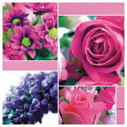 Linoows Papierserviette 20 Servietten Sommer, Collage mit edlen Rosen und, Motiv Sommer, Collage mit edlen Rosen und Blumen