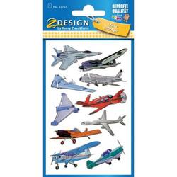 Sticker 76x120mm Metallic 1 Bogen Flugzeuge