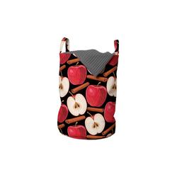 Abakuhaus Wäschesack Wäschekorb mit Griffen Kordelzugverschluss für Waschsalons, Apfel Zimtstangen Früchte