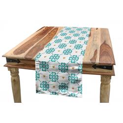 Abakuhaus Tischläufer Esszimmer Küche Rechteckiger Dekorativer Tischläufer, Diamanten Kristall-Herz-Muster 40 cm x 180 cm