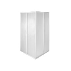 tectake Badewannenaufsatz Duschkabine Duschabtrennung, BxT: 80.0x80.0 cm 80.0 cm x 185.0 cm x 80.0 cm