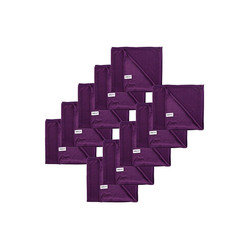Kochblume Geschirrtuch Poliertuch 50 x 60 cm, (Spar-Set, 10-tlg), 280g/qm Qualtität lila