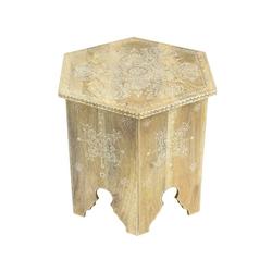 Oriental Galerie Blumenhocker Indischer Tisch Eckig 53cm TUG-019 (1 St), Handarbeit