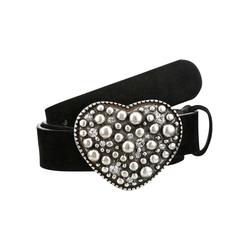 Klimm Trachtengürtel Damen in Veloursoptik schwarz Ledergürtel Gürtel Accessoires