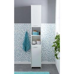 Badezimmer Schrank in Weiß 190 cm hoch