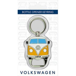 VW Bulli T1 Schlüsselanhänger mit Flaschenöffner gelb