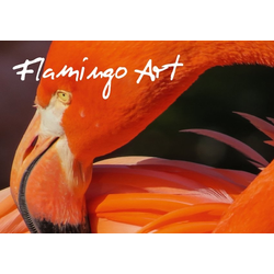Flamingo Art (Tischaufsteller DIN A5 quer)