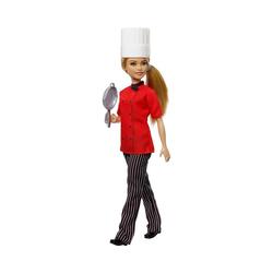 Mattel® Anziehpuppe Barbie Köchin Puppe (blond), Anziehpuppe,