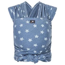 Babytragetuch Neugeborene Elastisches Tragetuch blau/weiß