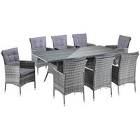 Gartenstühle holz grau  Gartenmöbel Set für 8 Personen Preisvergleich - billiger.de