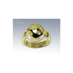 Ring floorball ball Gelb Gold, 57