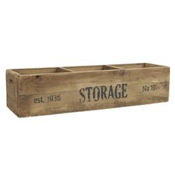 Ib Laursen Holzkiste Holzkiste Alt Holz Kiste Box Holzbox 3 Fächer Storage L 59 cm Ib Laursen 5208 14
