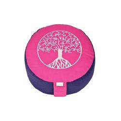 yogabox Yogakissen Glückssitz Lebensbaum rosa