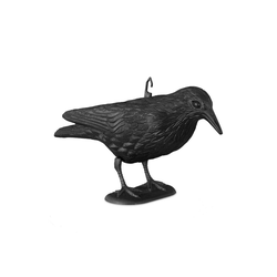 relaxdays Gartenfigur Taubenschreck Krähe sitzend
