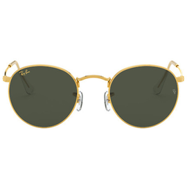 Ray Ban Round Metal RB3447 919631 47-21 gold/green classic