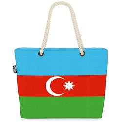VOID Strandtasche (1-tlg), Aserbaidschan Flagge EM WM Fahne