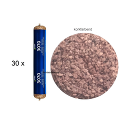 30 x Bostik 3070 Spritzkork korkfarbend 1K Kork Dichtstoff 500ml Beutel