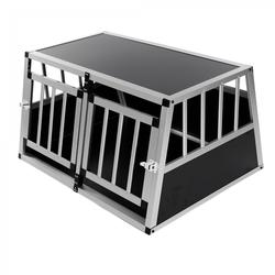 zoomundo Hundetransportbox / Kofferraumbox aus Aluminium - 2-Türig Premium