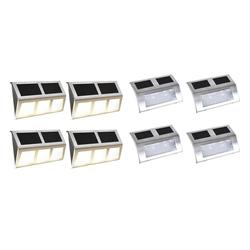 vidaXL LED Solarleuchte vidaXL Solarlampen-Set 8-tlg, LED Lichter